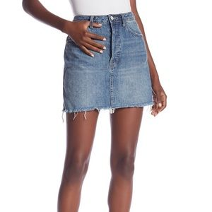 Free People High Rise A-Line Jean Miniskirt 27